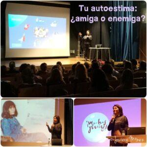 """Collage de fotos de la conferencia """"Tu autoestima: ¿amiga o enemiga?"""" de 01/02/2019"""