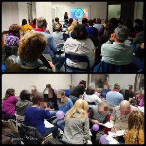 Collage de fotos del taller 4 de Desarrollo Personal de 25/02/2019