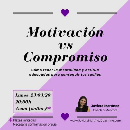 Cartel motivacion vs compromiso